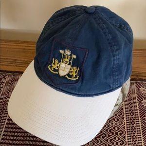J Crew gold crest baseball cap